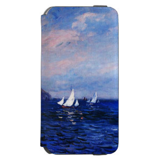 Claude Monet-Cliffs and Sailboats at Pourville Incipio Watson™ iPhone 6 Wallet Case