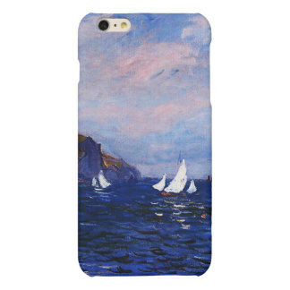 Claude Monet-Cliffs and Sailboats at Pourville iPhone 6 Plus Case