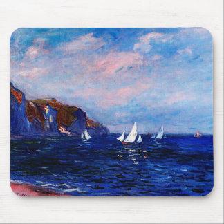 Claude Monet-Cliffs and Sailboats at Pourville Mouse Pad