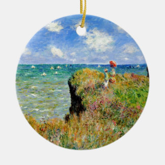 Claude Monet Clifftop Walk Christmas Ornament