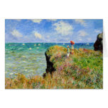 Claude Monet Clifftop Walk Greeting Card