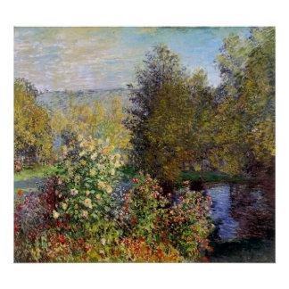 Claude Monet - Corner of the Garden at Montgeron Poster