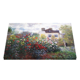 Claude Monet Corner of the Garden Fine Art Canvas Prints