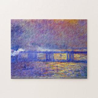 Claude Monet - Cross bridge at sunset  puzzle