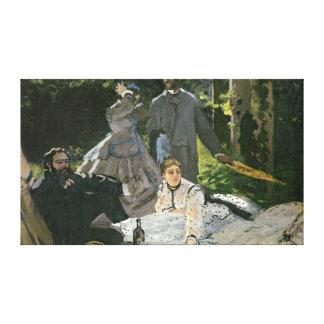 Claude Monet | Dejeuner sur l'Herbe, Chailly Canvas Print
