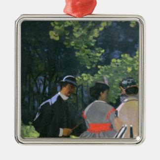 Claude Monet | Dejeuner sur l'Herbe, Chailly Silver-Colored Square Decoration