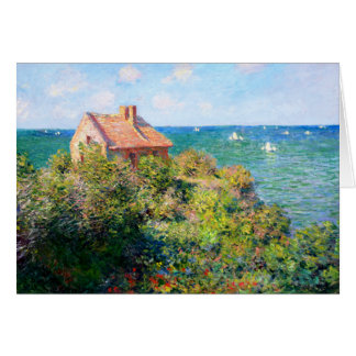 Claude Monet: Fishermans Cottage at Varengeville Card