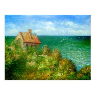 Claude Monet: Fishermans Cottage At Varengeville Postcard