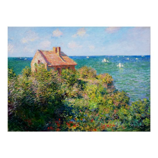 Claude Monet: Fishermans Cottage at Varengeville Poster