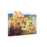Claude Monet - Fisherman's Cottage on a Cliff Stretched Canvas Print