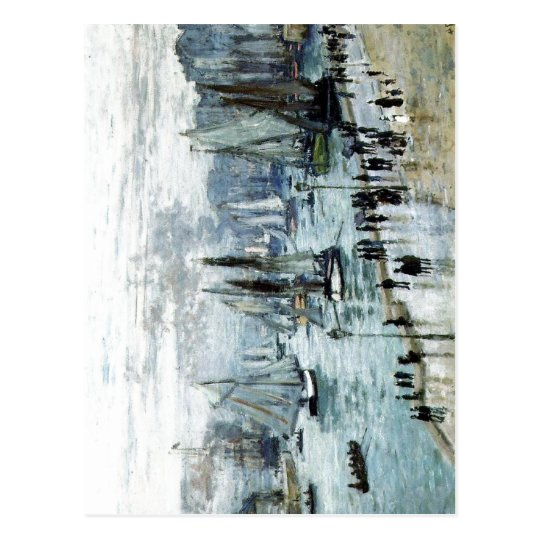 Claude Monet, Fishing Boats Leaving the Harbour, Postcard