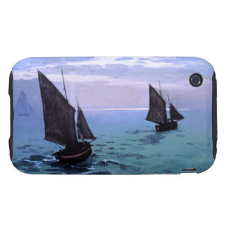 Claude Monet: Fishing Boats on their Way iPhone 3 Tough Cases