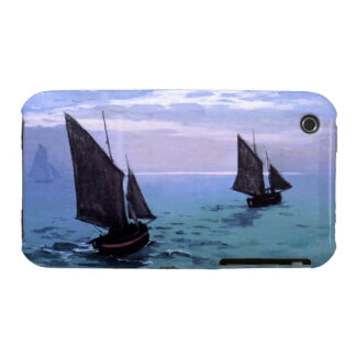Claude Monet: Fishing Boats on their Way iPhone 3 Cases