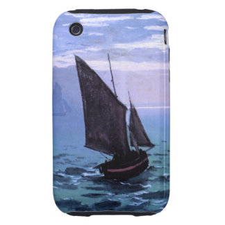 Claude Monet: Fishing Boats on their Way iPhone 3 Tough Case