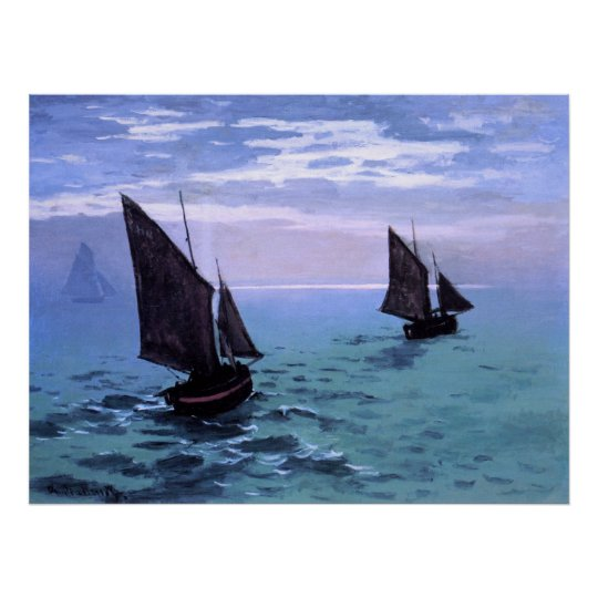Claude Monet: Fishing Boats on their Way Poster