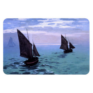 Claude Monet: Fishing Boats on their Way Rectangular Photo Magnet