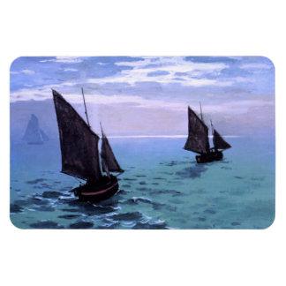 Claude Monet: Fishing Boats on their Way Rectangular Photo Magnet