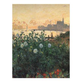 Claude Monet - Flowered Riverbank, Argenteuil 21.5 Cm X 28 Cm Flyer