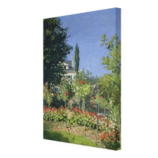 Claude Monet | Flowering Garden at Sainte-Adresse Canvas Print