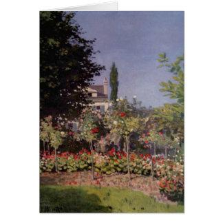 Claude Monet - Flowering Garden at Sainte-Adresse Greeting Card