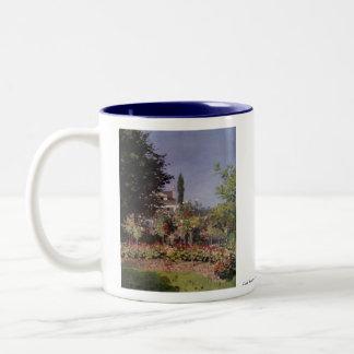 Claude Monet - Flowering Garden at Sainte-Adresse Two-Tone Mug