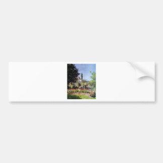 Claude Monet Flowering Garden Bumper Sticker