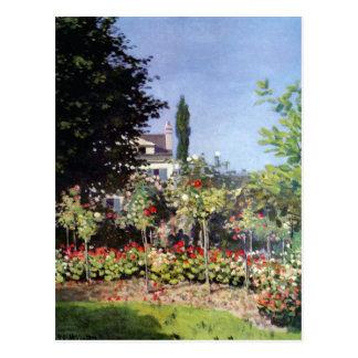 Claude Monet Flowering Garden Postcard