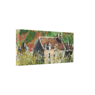 Claude Monet - Flowering Plum Trees Canvas Print