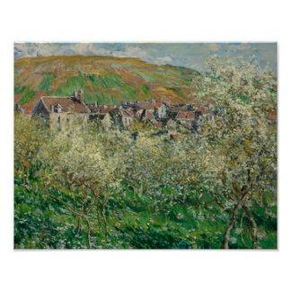Claude Monet - Flowering Plum Trees Poster
