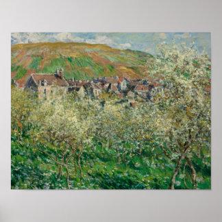 Claude Monet - Flowering Plum Trees Poster