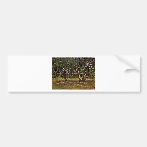 Claude Monet Fontainebleau Forest Bumper Sticker