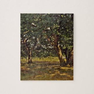 Claude Monet Fontainebleau Forest Jigsaw Puzzle