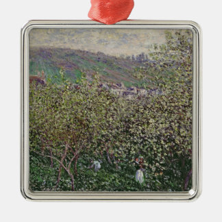 Claude Monet | Fruit Pickers, 1879 Silver-Colored Square Decoration