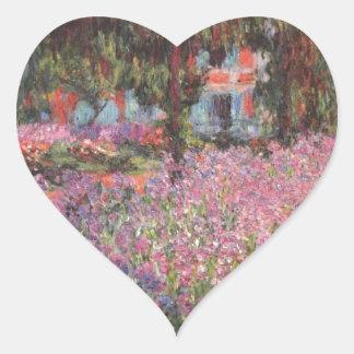 Claude Monet // Garden at Giverny Heart Sticker