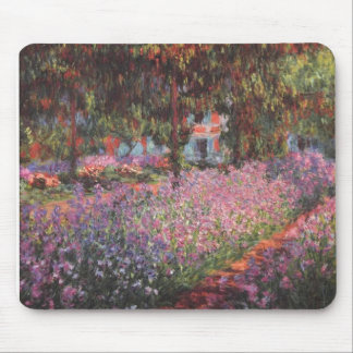 Claude Monet // Garden at Giverny Mouse Pad