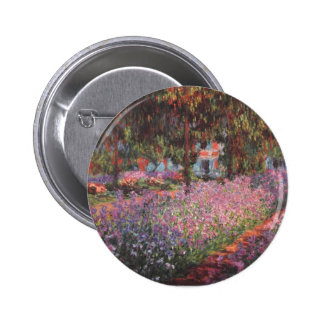 Claude Monet Garden at Giverny Pinback Buttons