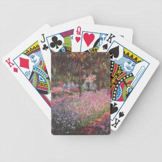 Claude Monet // Garden at Giverny Poker Deck