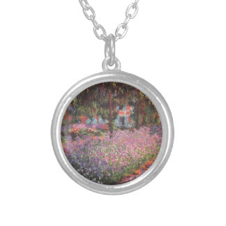 Claude Monet // Garden at Giverny Round Pendant Necklace