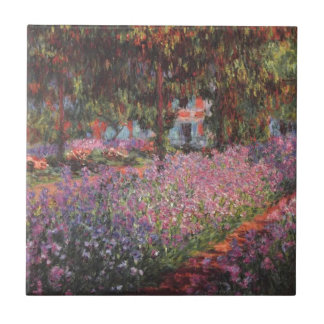 Claude Monet // Garden at Giverny Small Square Tile