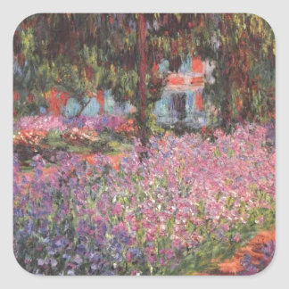 Claude Monet // Garden at Giverny Square Sticker