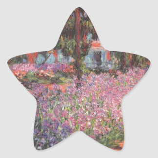 Claude Monet // Garden at Giverny Star Sticker