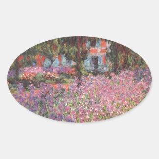 Claude Monet // Garden at Giverny Sticker