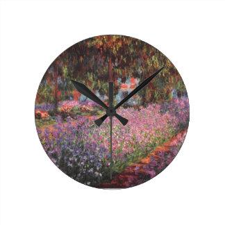 Claude Monet // Garden at Giverny Wall Clock