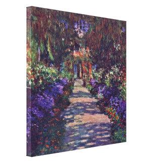 Claude Monet - garden path Stretched Canvas Prints