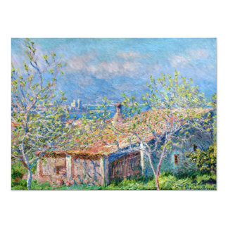 Claude Monet: Gardeners House at Antibes 17 Cm X 22 Cm Invitation Card