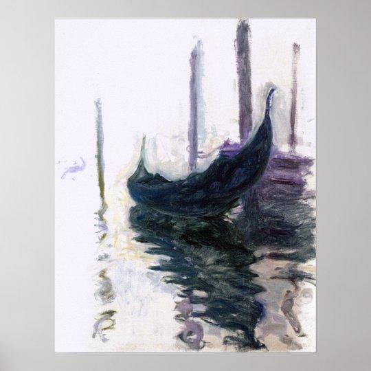Claude Monet Gondola in Venice Poster
