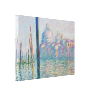Claude Monet Grand Canal Venice Italy Travel Canvas Print