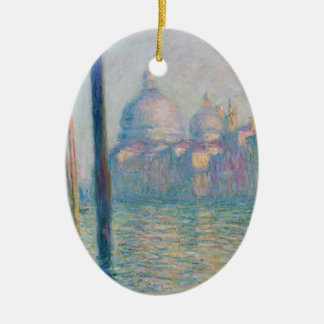 Claude Monet Grand Canal Venice Italy Travel Ceramic Oval Decoration