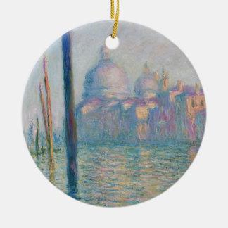 Claude Monet Grand Canal Venice Italy Travel Round Ceramic Decoration