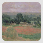 Claude Monet | Haystack at Giverny, 1886 Square Sticker